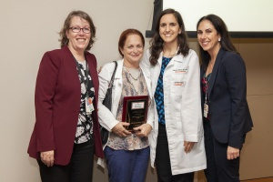From left, Rose Van Zuilen, M.D., Marilyn Glassberg, M.D., Sabrina Taldone, M.D., MBA and Lilian Abbo, M.D.